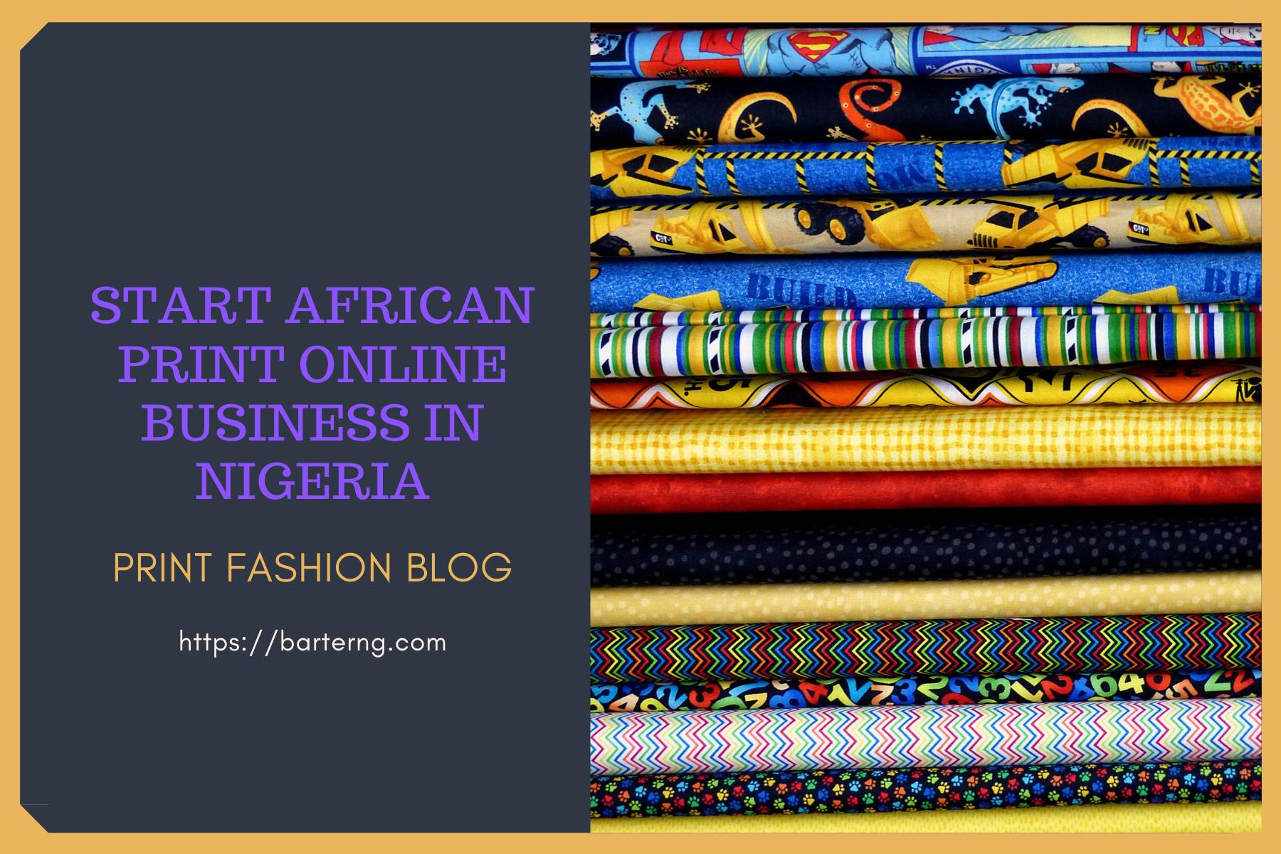 start African print business